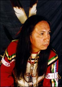 Native American flute player Calvin Standing Bear will perform at the exhibit opening celebration.